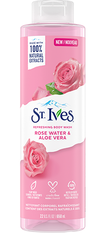 Refreshing Rose Water and Aloe Vera Body Wash