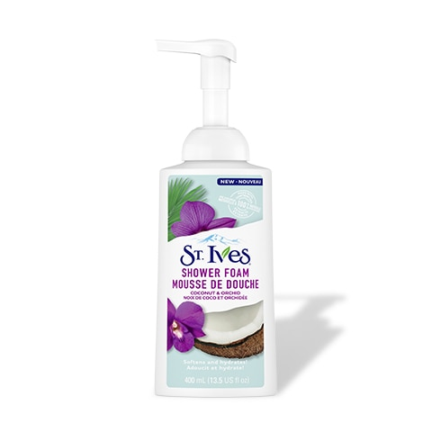 coconut and orchid shower foam