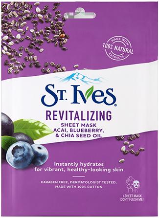 Revitalizing Açai, Blueberry & Chia Seed Oil Sheet Mask