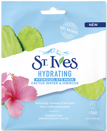 Hydrating Cactus Water & Hibiscus Hydrogel Eye Mask