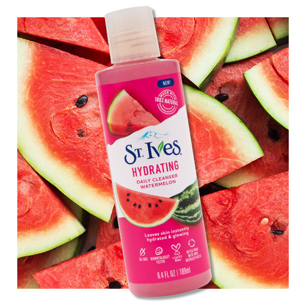 watermelon cleanser with watermelon background