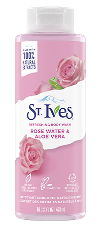 st.ives refreshing rose water and aloe vera body wash